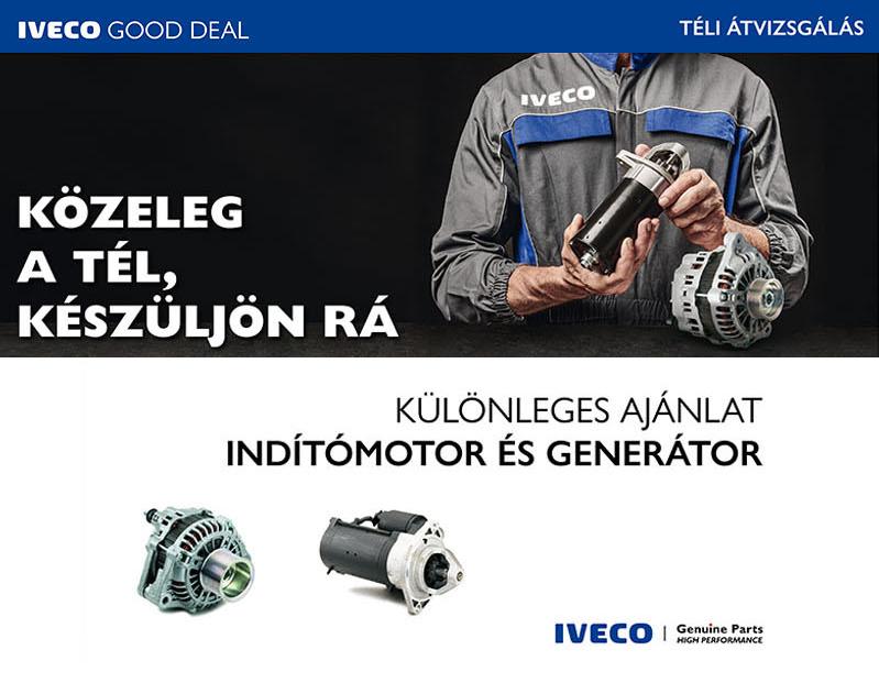 IVECO Gyári indítómotor és generátor akció!